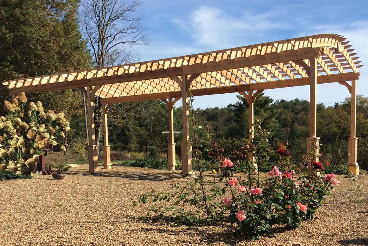 16x36 Arched Cedar Pergola Kit / unstained / Reynoldsville, PA.