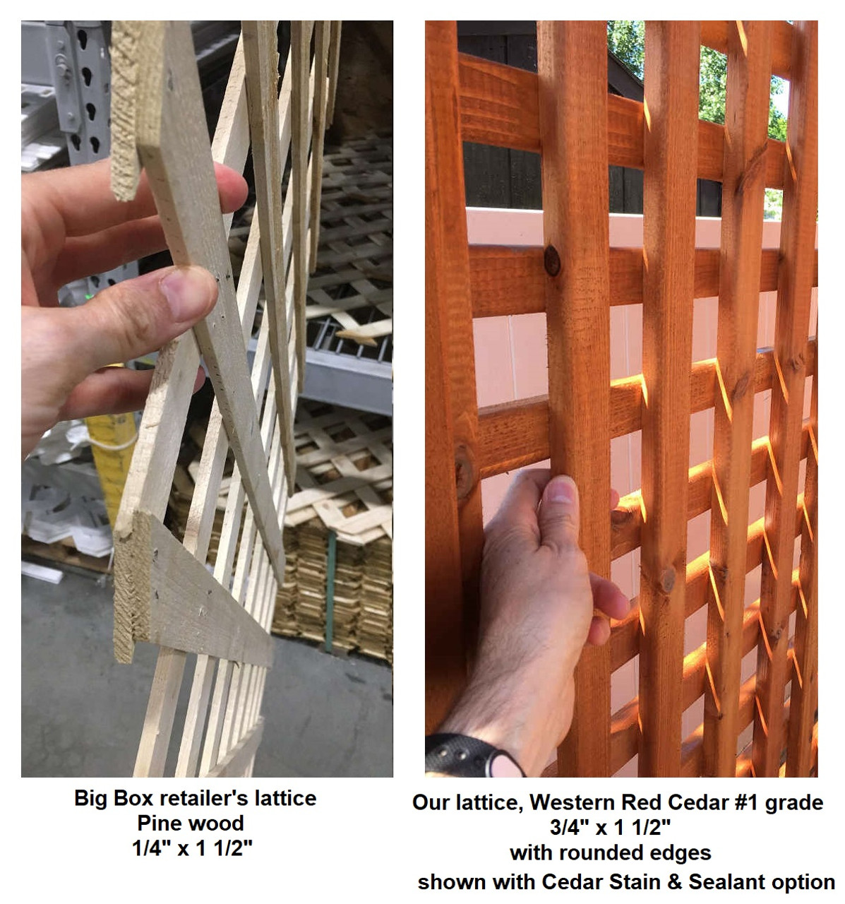 Our lattice versus store bought lattice