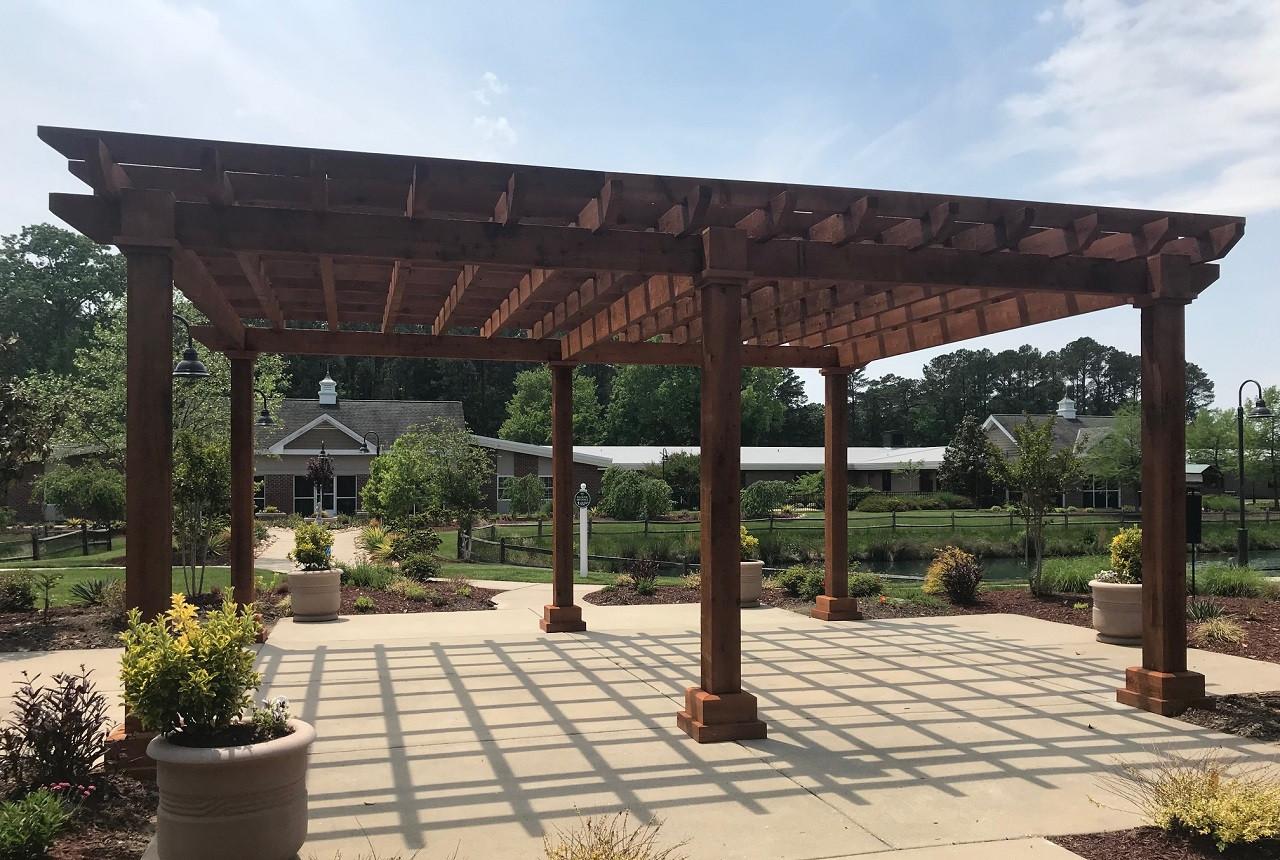 Alternate view for 19x24 Homestead Pergola Kit, Rustic Cedar Stain / Newport News, VA