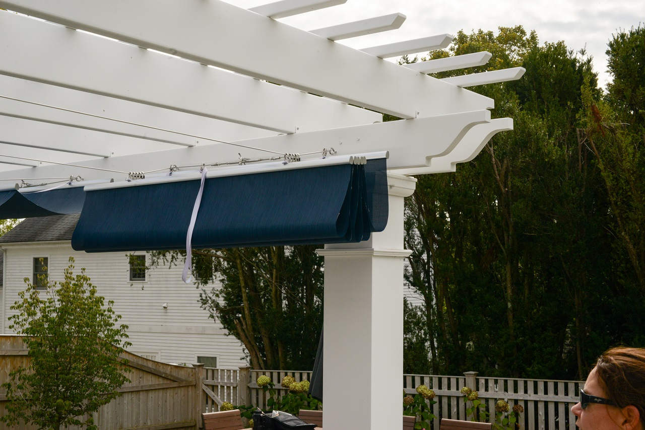 Infinity Canopy™ easily slides to a fully retracted position.