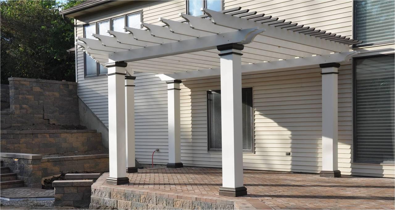 Pergola Kit free standing fiberglass square column v7