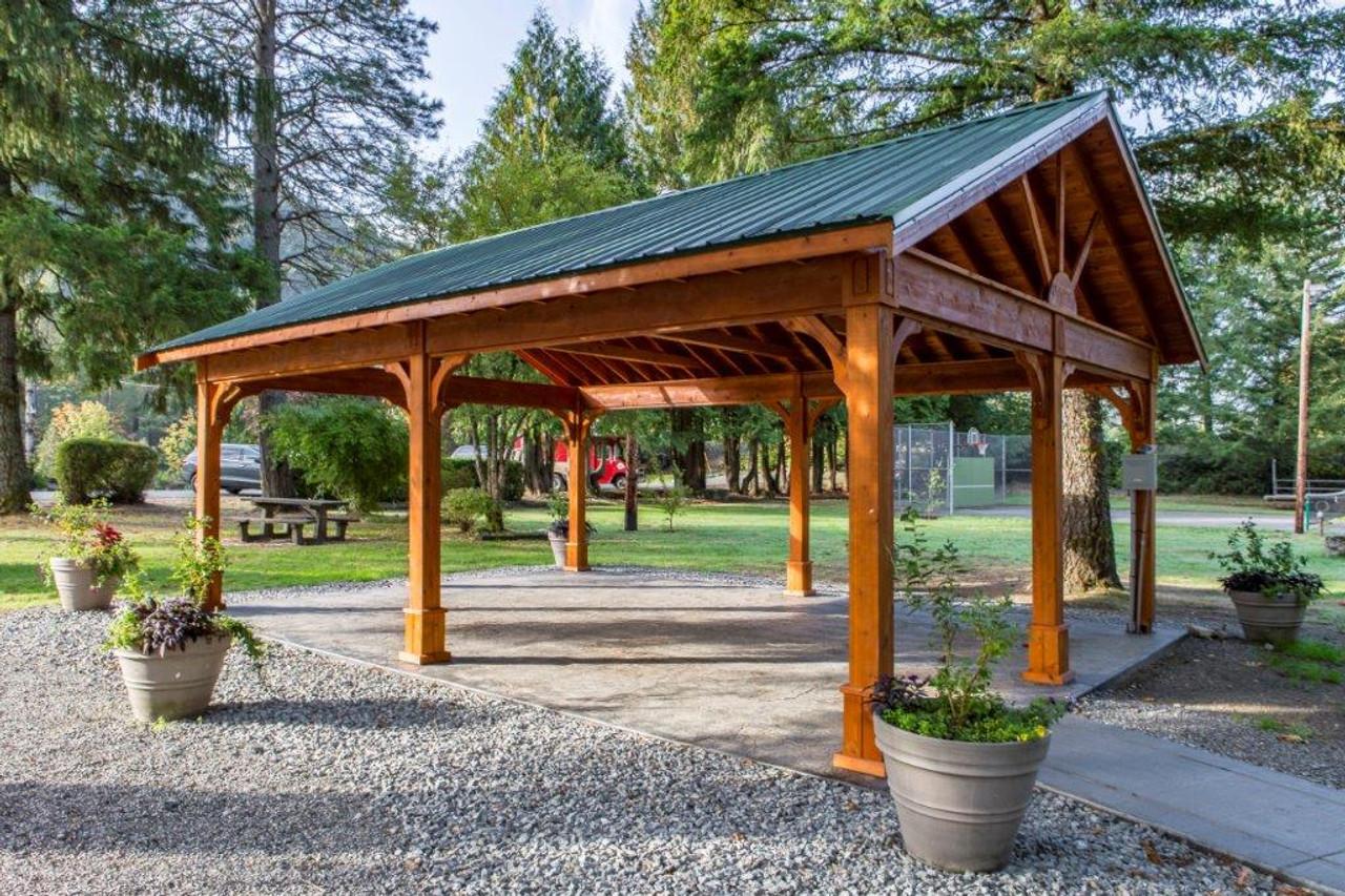 18x26 Red Cedar Pavilion Kit - Town Park Gathering Place