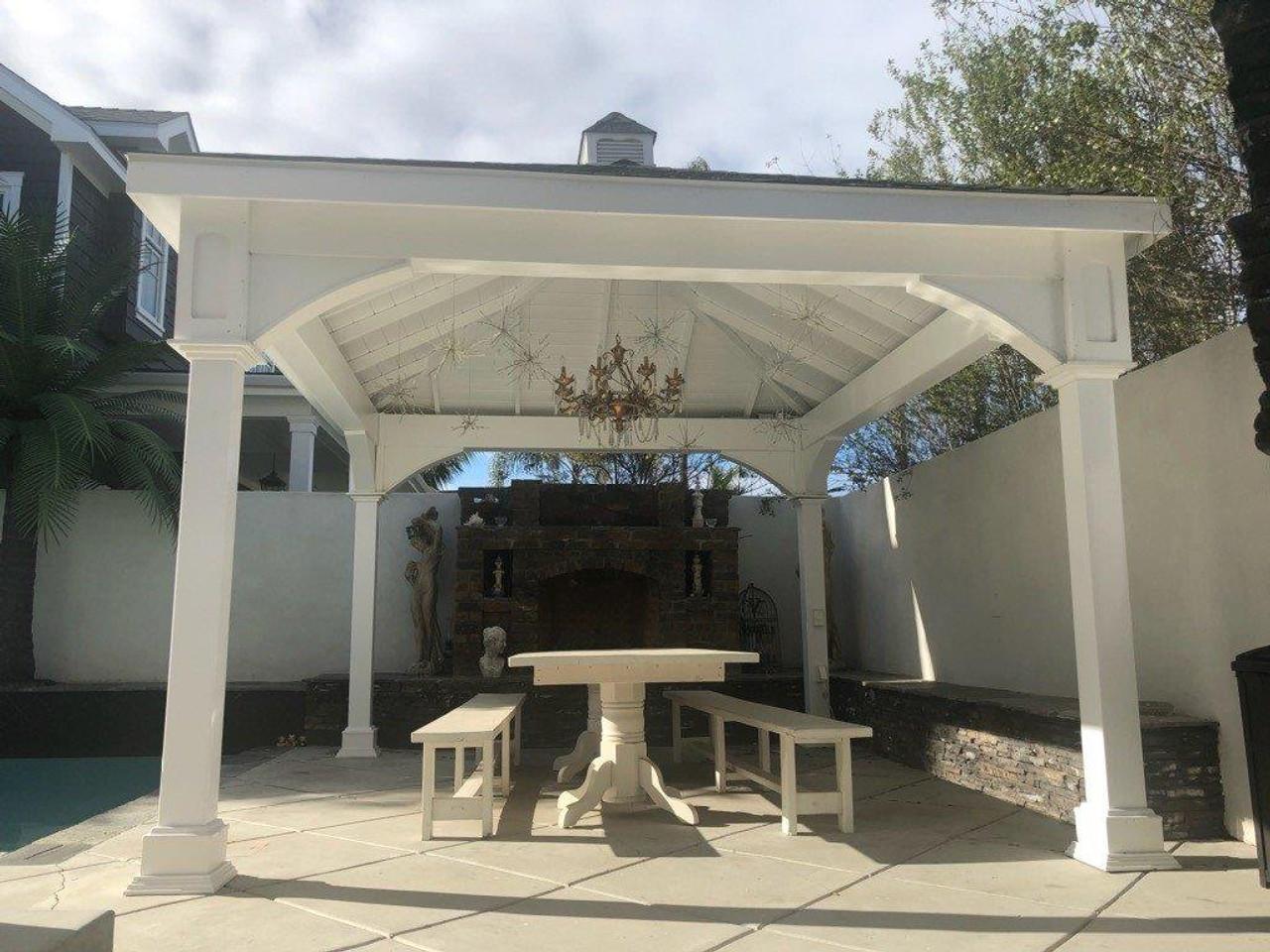 12x14 Pavilion Vinyl Traditional (Hip) Roof, Coronado, CA