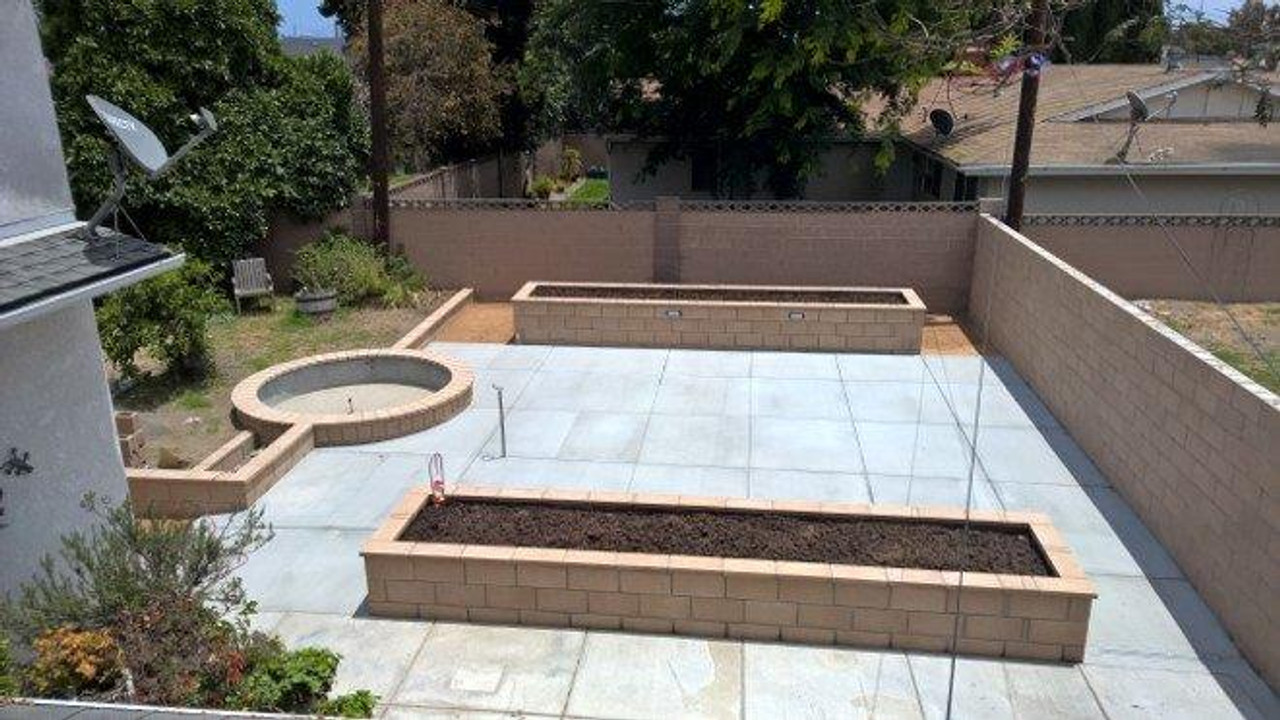 Courtyard in Anaheim, CA prior to installation of the pergola.