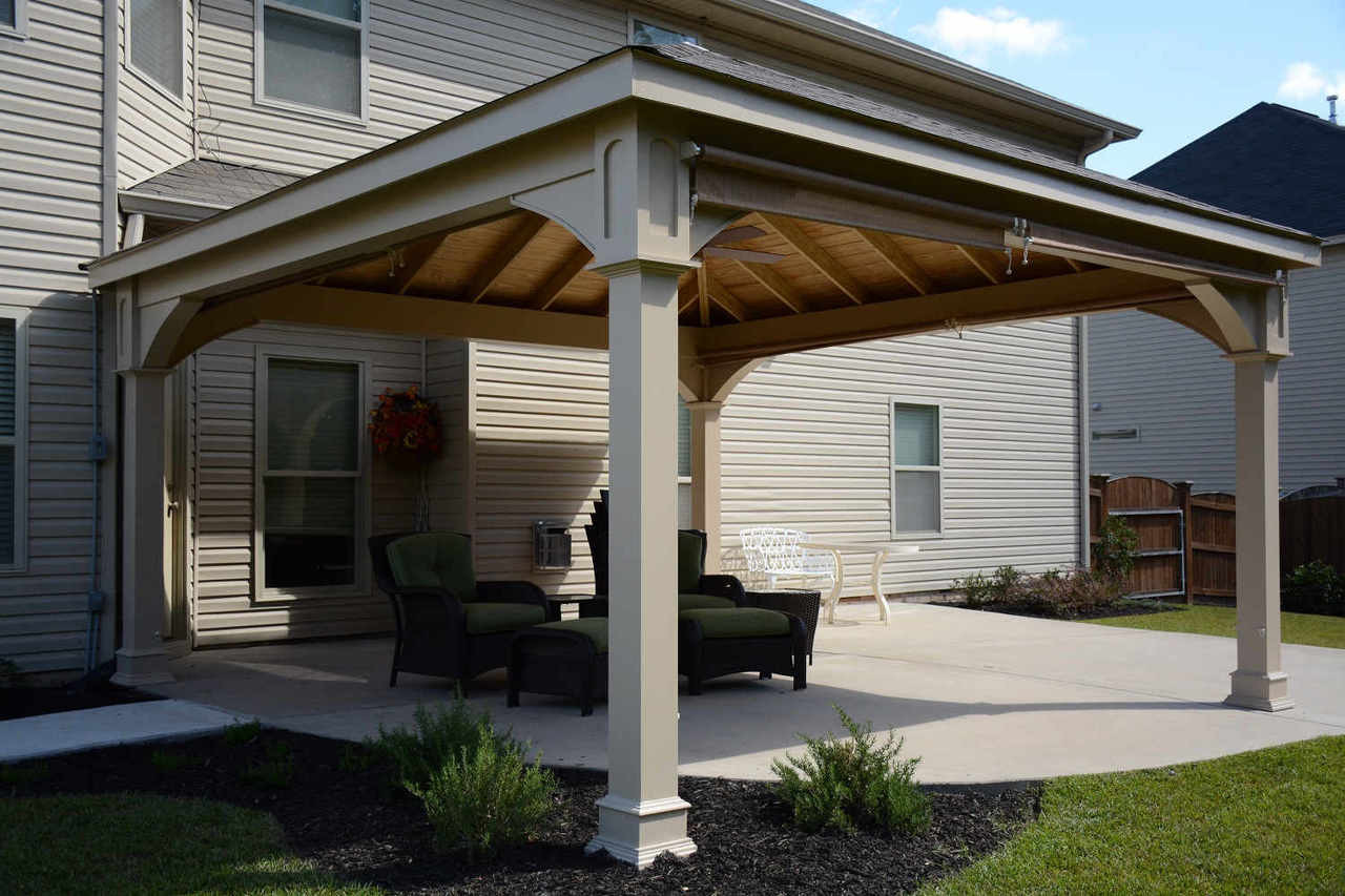 Custom color patio cover in Lexington South Carolina