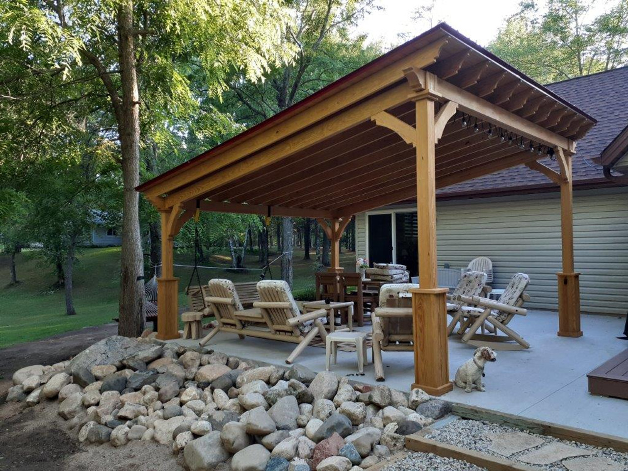 14x16 pressure treated covered Lean-To roof, Crivitz Wisconsin