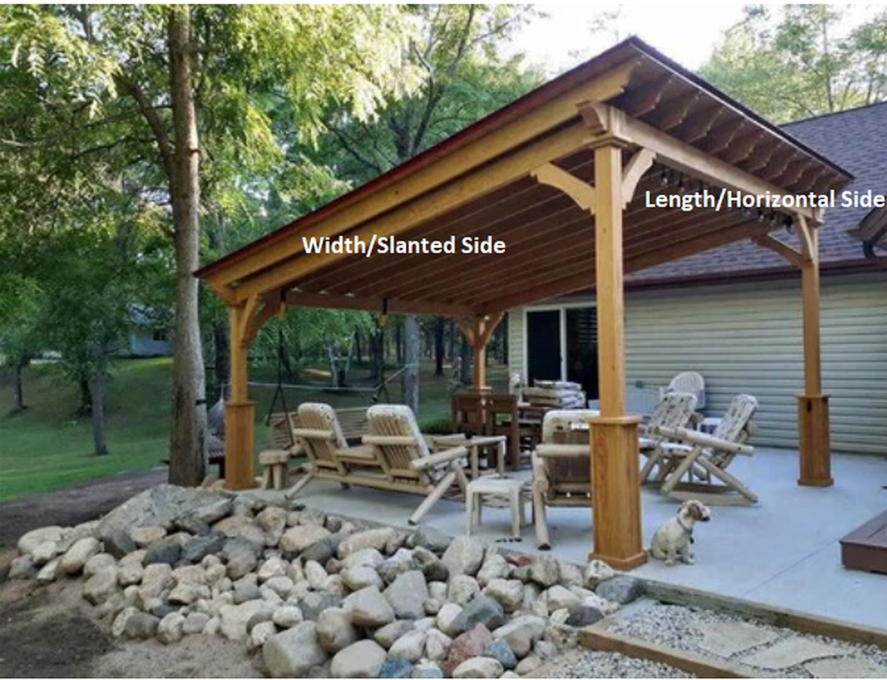 Lean-To Width x Length