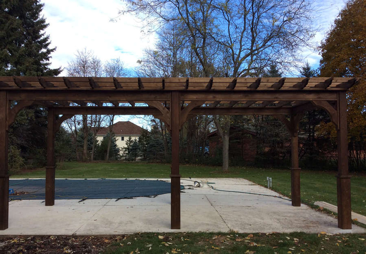 Another shot of the pergola in different light.