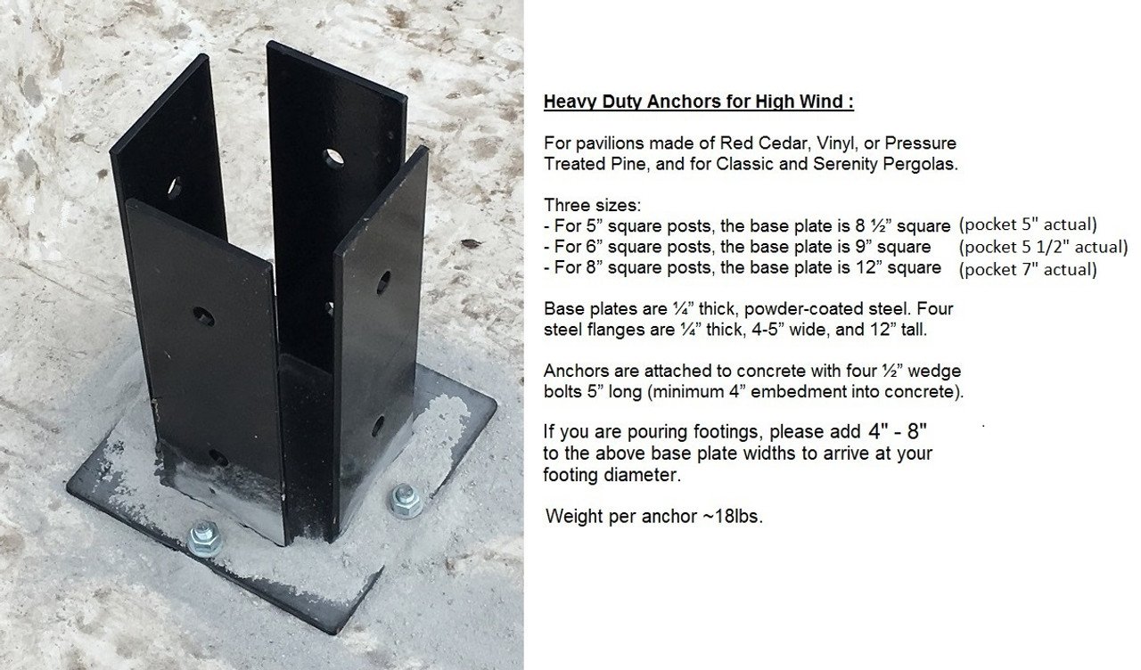Heavy Duty Post Brackets Powder Coated Pergolakitsusa Com