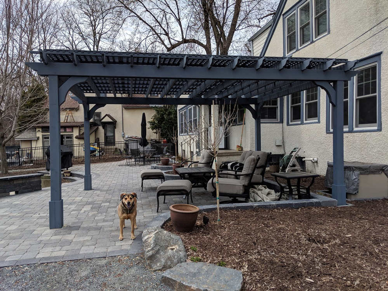 12x16 Classic Cedar Pergola Kit Minneapolis, MN
