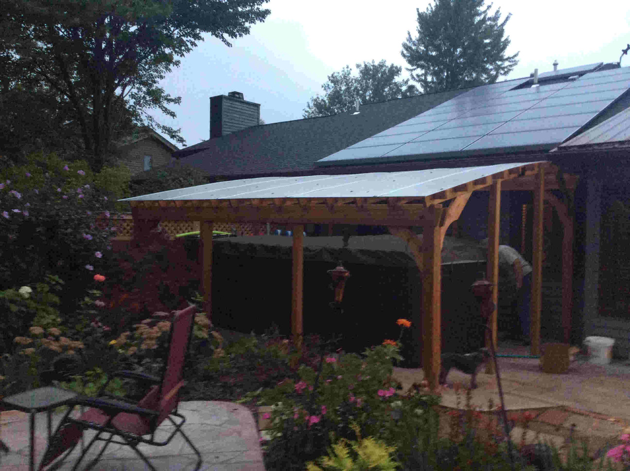 12x18 Custom Arched Cedar Pergola Kit - Slingerlands, New York