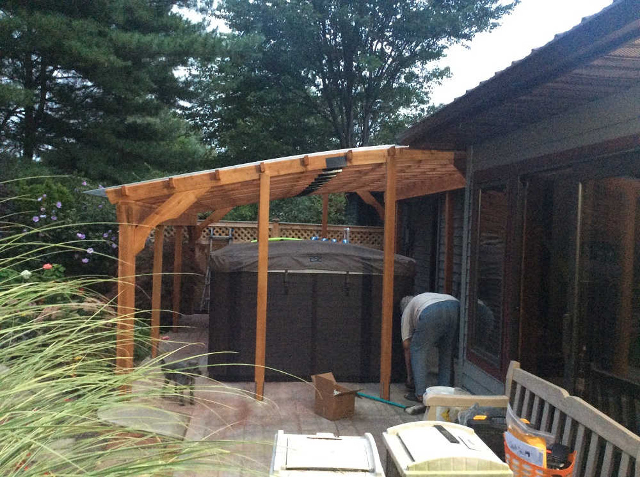 12x18  Custom  Arched Cedar Pergola Kit - Slingerlands, NY