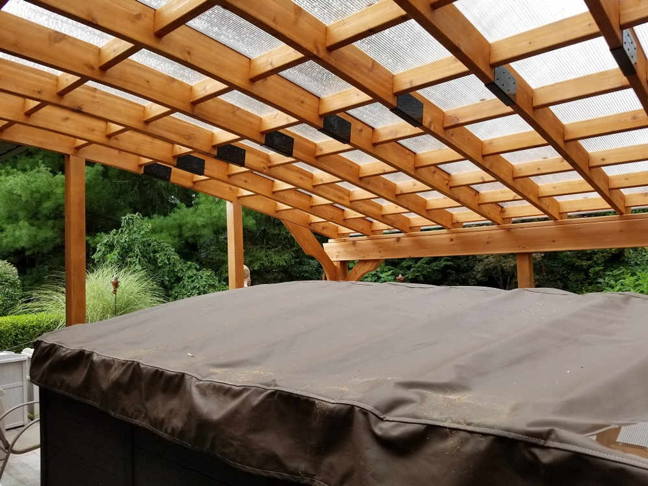 12x18 Custom Arched Cedar Pergola Kit Outdoor  - Slingerlands, New York