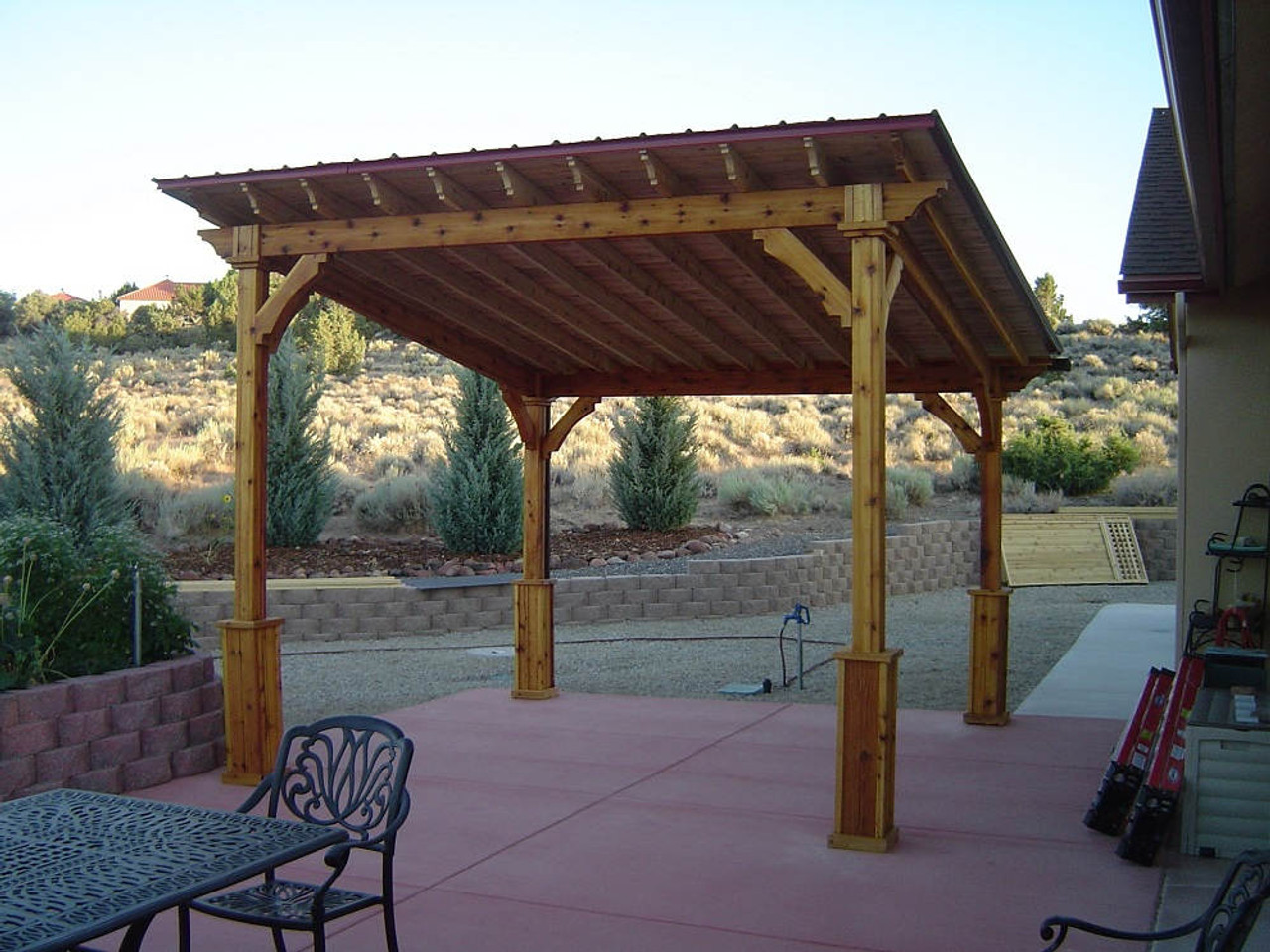 12x12 Lean-To Cedar Pergola Kit - Gardnerville, Nevada