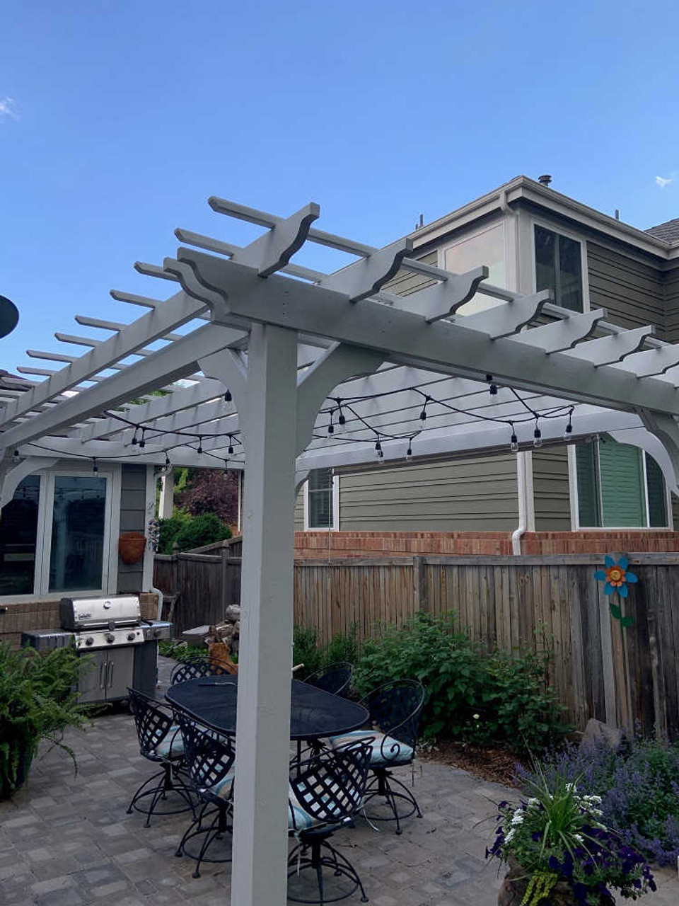 10x15 Classic Pergola Kit Painted White - Parker, CO