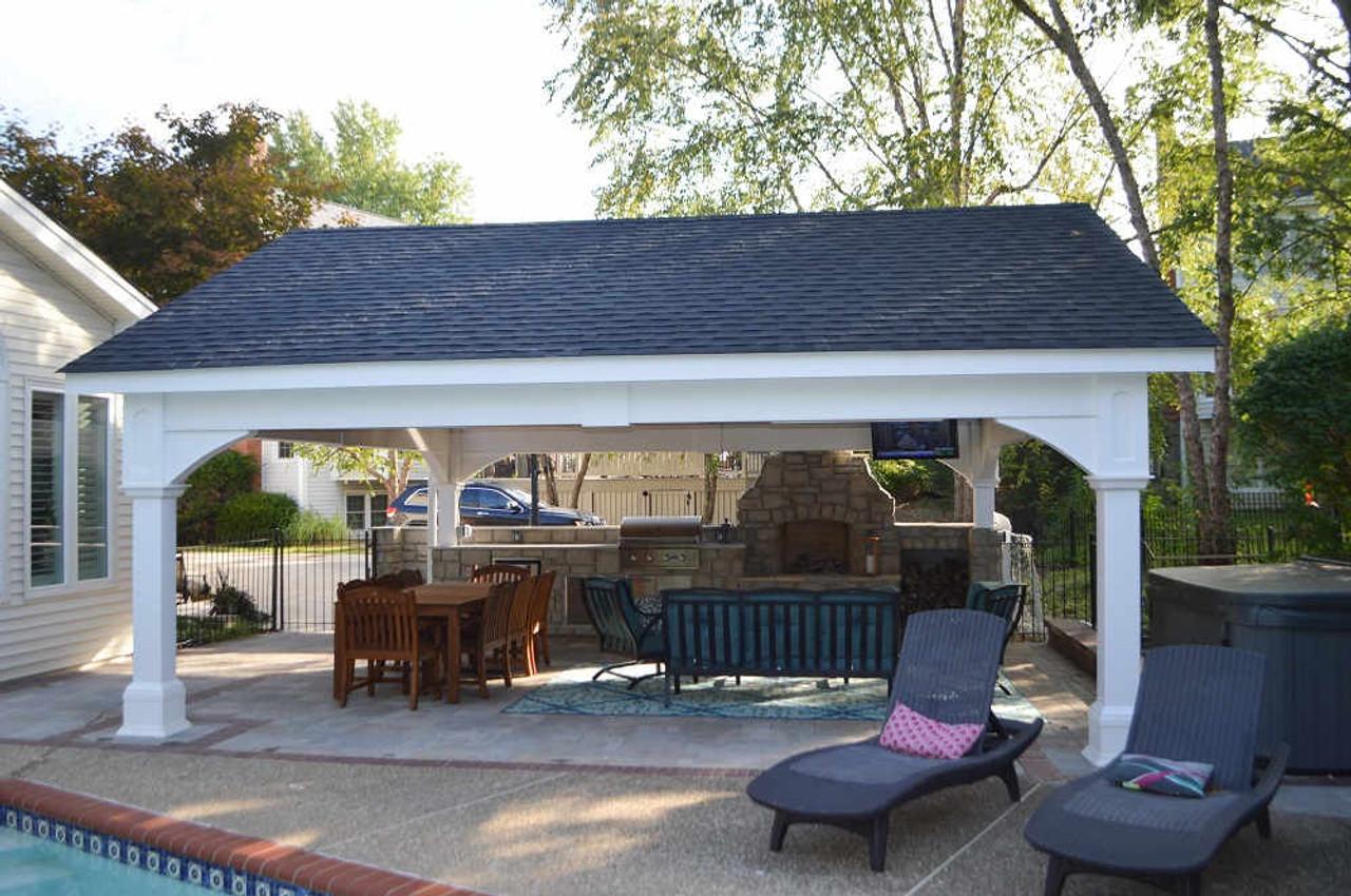 21x21 Vinyl Gable Pavilion Kit, Outdoor sanctuary, Chesterfield MO
