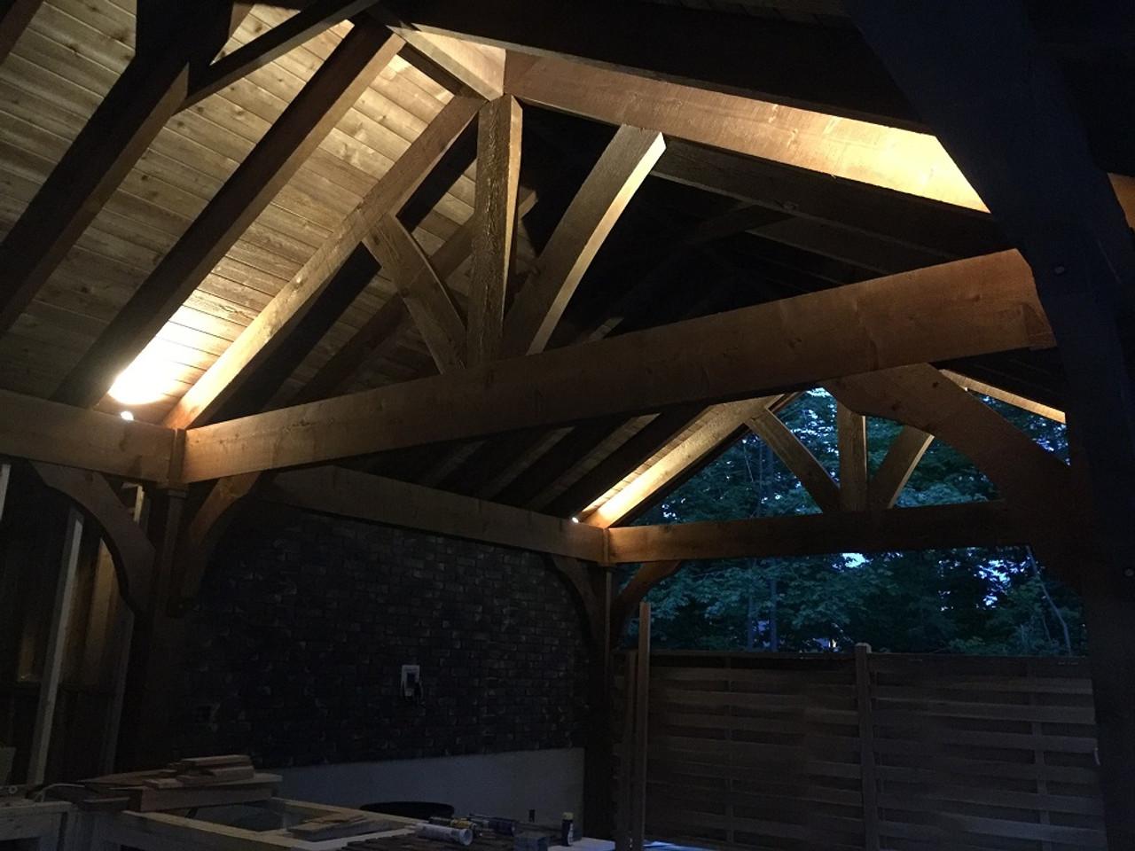 16x28 Grand Cedar Pavilion Kit Nighttime idea, Gliford, NH