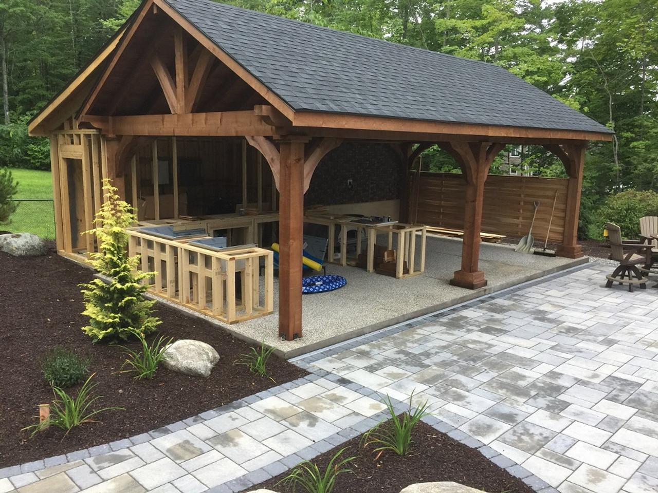 16x28 Grand Cedar Pavilion Kit, Gliford, New Hampshire