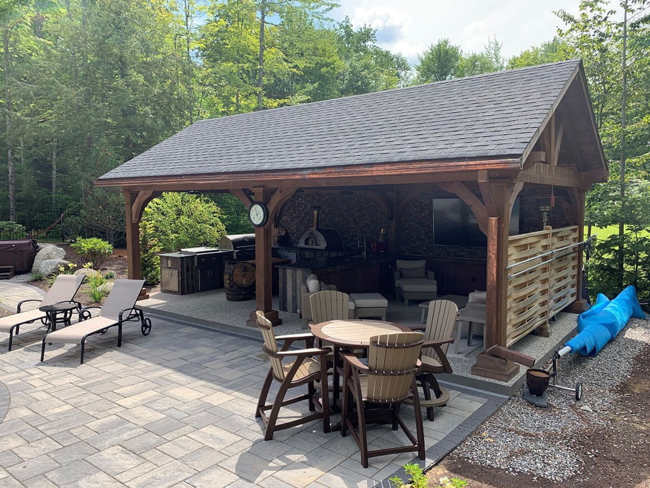 16x28 Grand Cedar Pavilion Kit, Gliford, NH