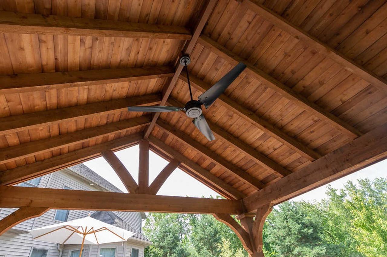 16x16 Grand Cedar Pavilion Kit with ceiling fan, Richfield, OH