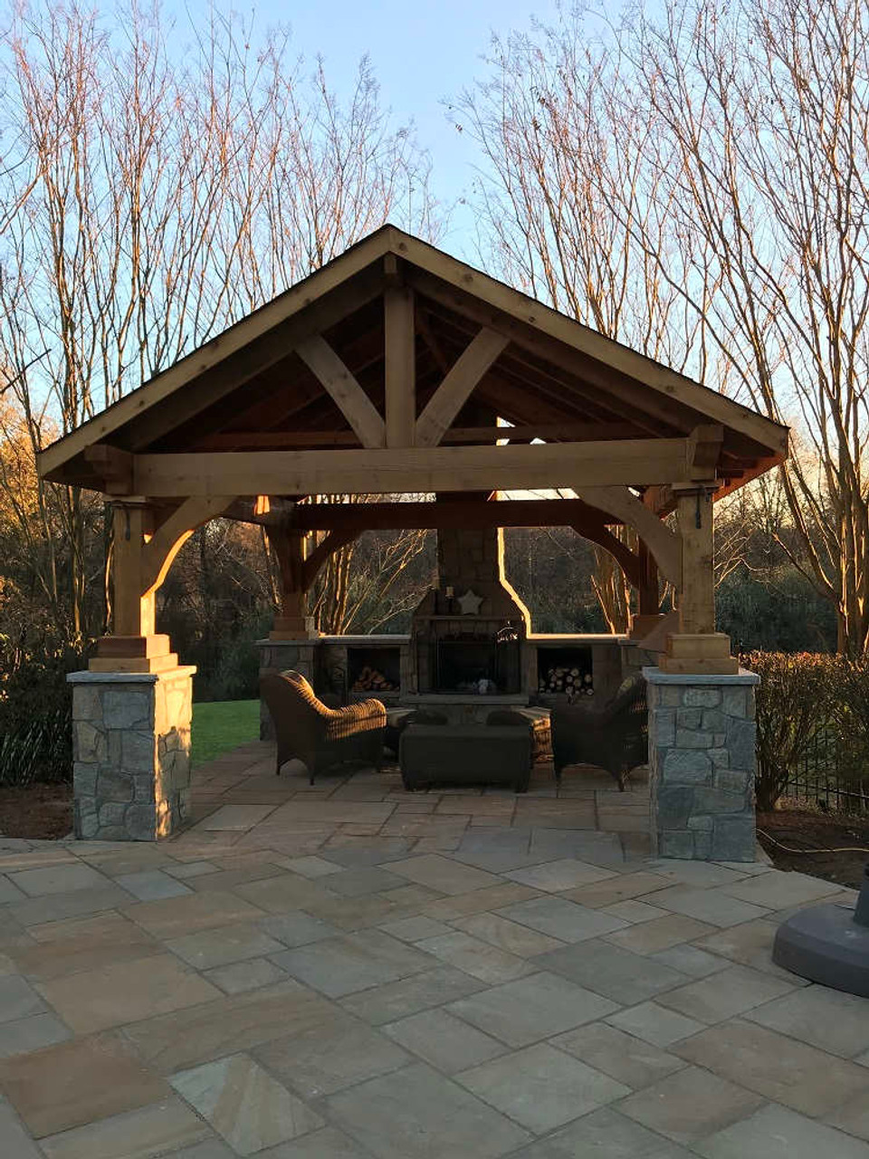 14x14 Grand Cedar Pavilion Kit, Silver Spring, MD