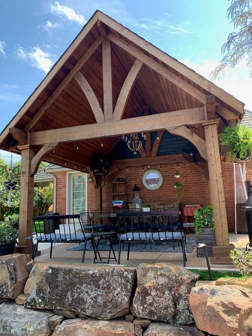 14x14 Grand Cedar Pavlion Kit Seating Area, Oklahoma City, Oklahoma