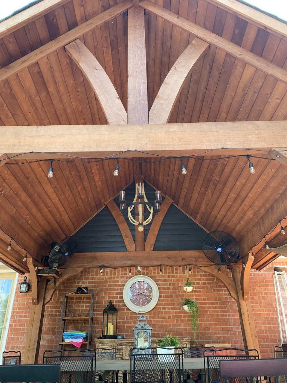 14x14 Grand Cedar Pavlion Kit, Oklahoma City, Oklahoma