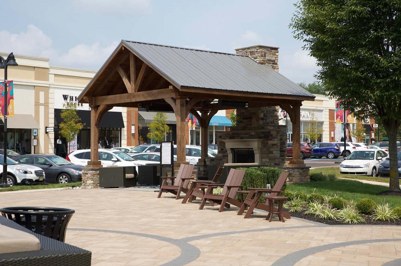 18x18 Grand Cedar Pavilion Kit for shopping center, Warrington, PA