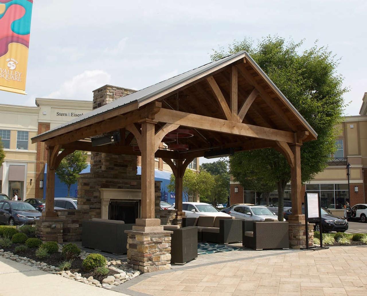 18x18 Grand Cedar Pavilion Kit with Mahogany stain, Warrington, PA