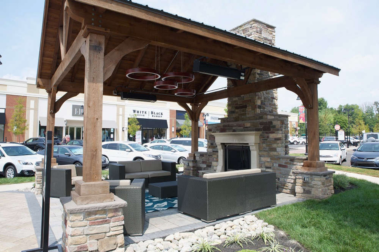 18x18 Grand Cedar Pavilion Kit, Warrington, Pennsylvania