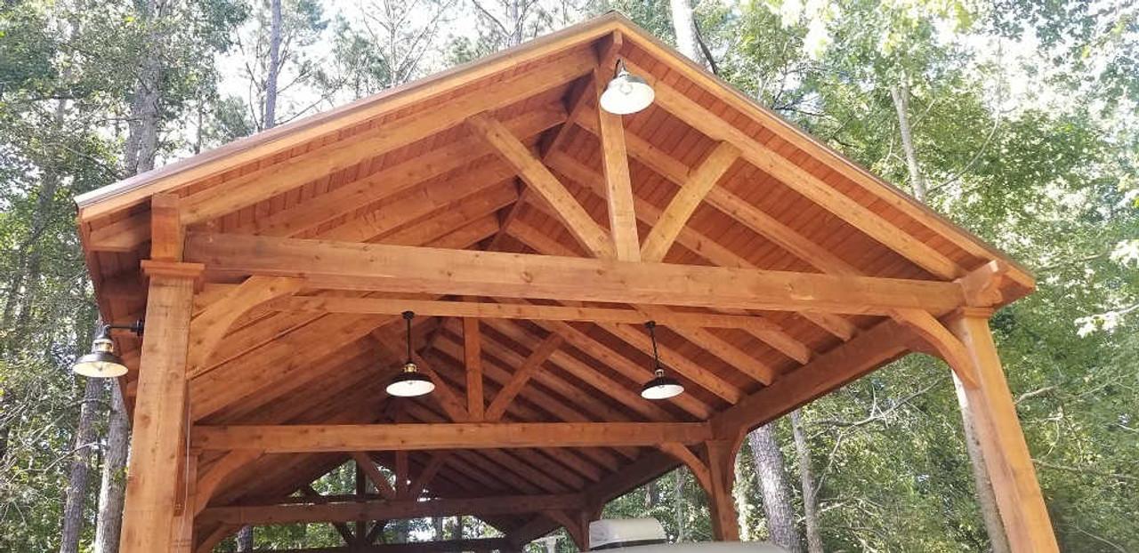 23x49 Grand Cedar Pavilion Kit, massive 16' Tall, Peachtree Corners, GA