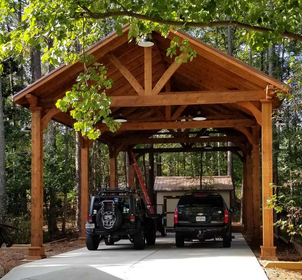 23x49 Grand Cedar Pavilion Kit, Peachtree Corners, GA