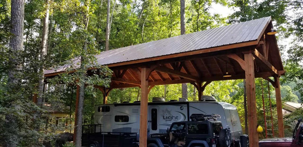 23x49 Grand Cedar Pavilion Kit, Peachtree Corners, Georgia
