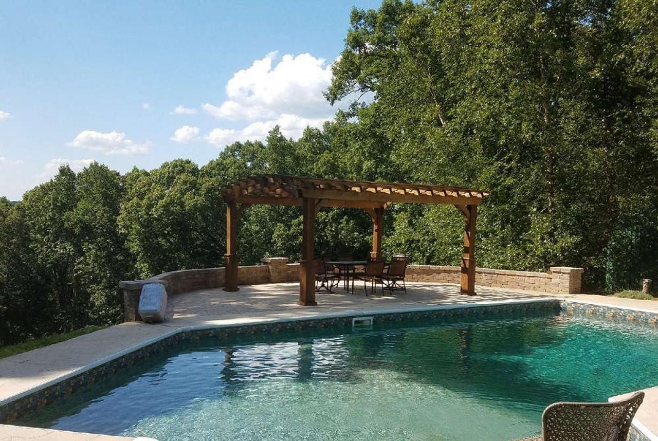 12x16 Arched Cedar Pergola Kit, Whitesburg, GA