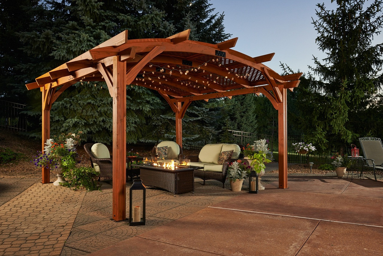 Outdoor Greatroom Sonoma Pergola Kit 16x16 Sonoma16 M