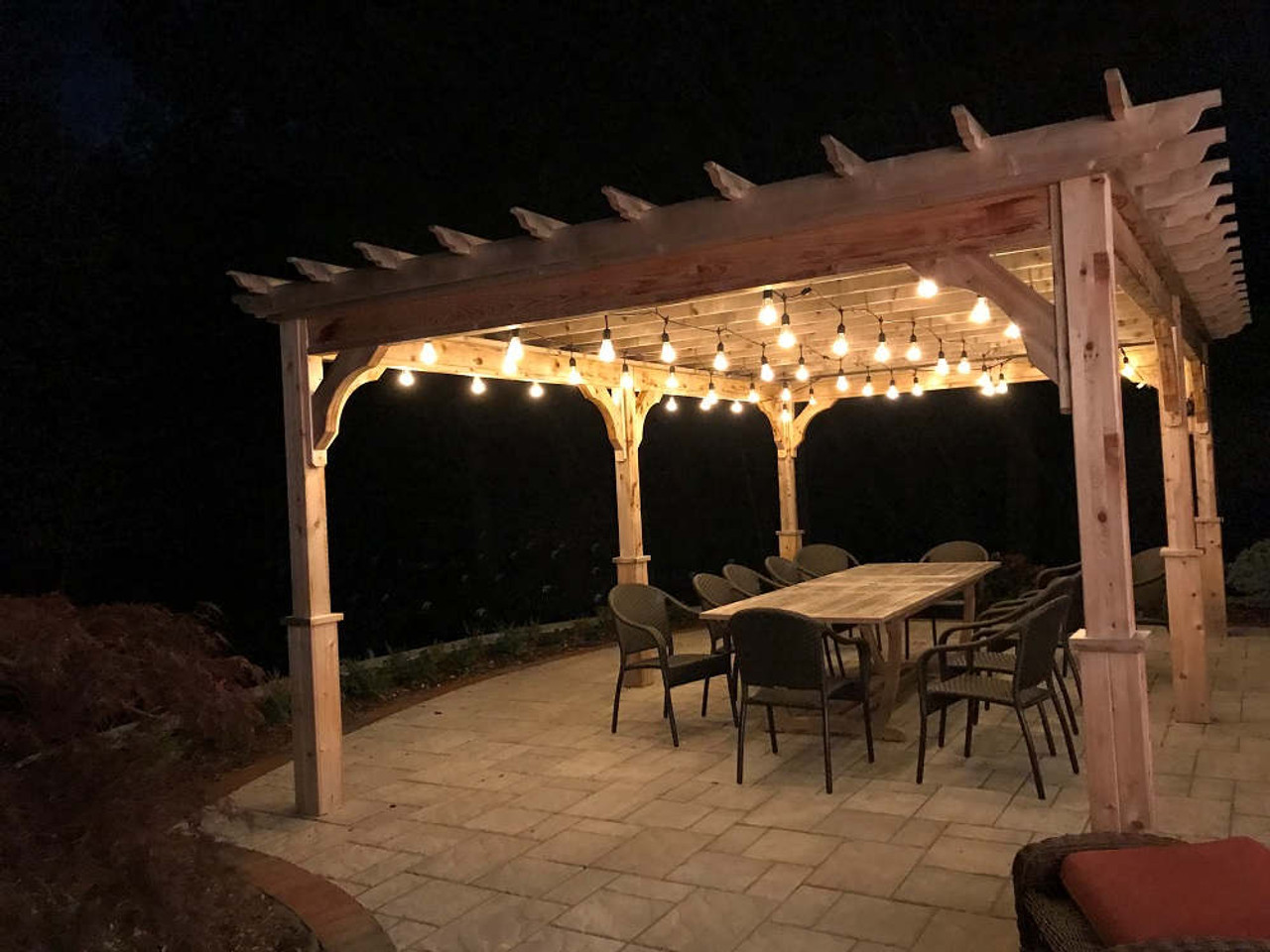 12x20 Serenity Pergola Kit, Party Lights, Bedford, NH