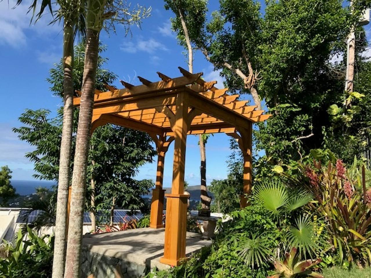10x10 Pressure Treated Pine Serenity Pergola Kit Tranquility, U.S. Virgin Islands