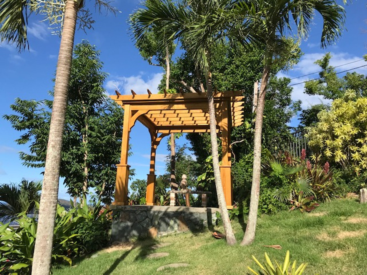 10x10 Pressure Treated Pine Serenity Pergola Kit, Beautiful in the U.S. Virgin Islands