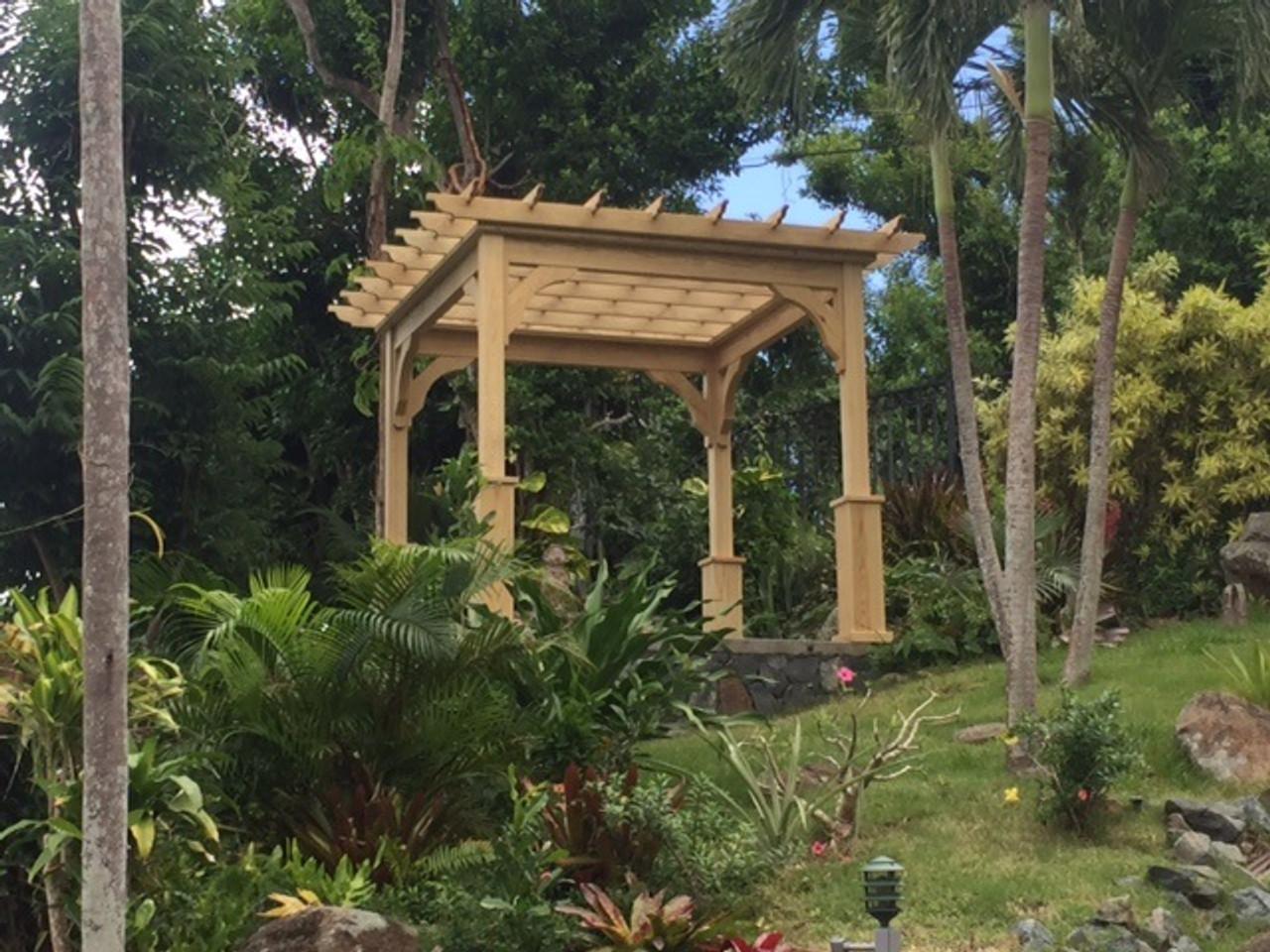 10x10 Pressure Treated Pine Serenity Pergola Kit, U.S. Virgin Islands