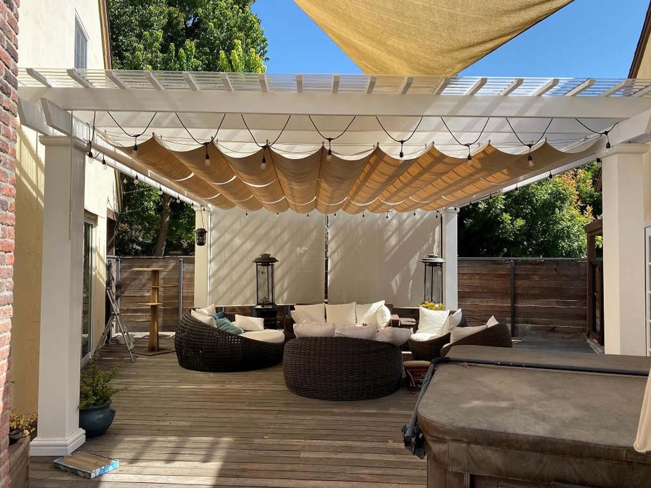 17x19 Structural Fiberglass Pergola Kit with canopy, San Jose, California