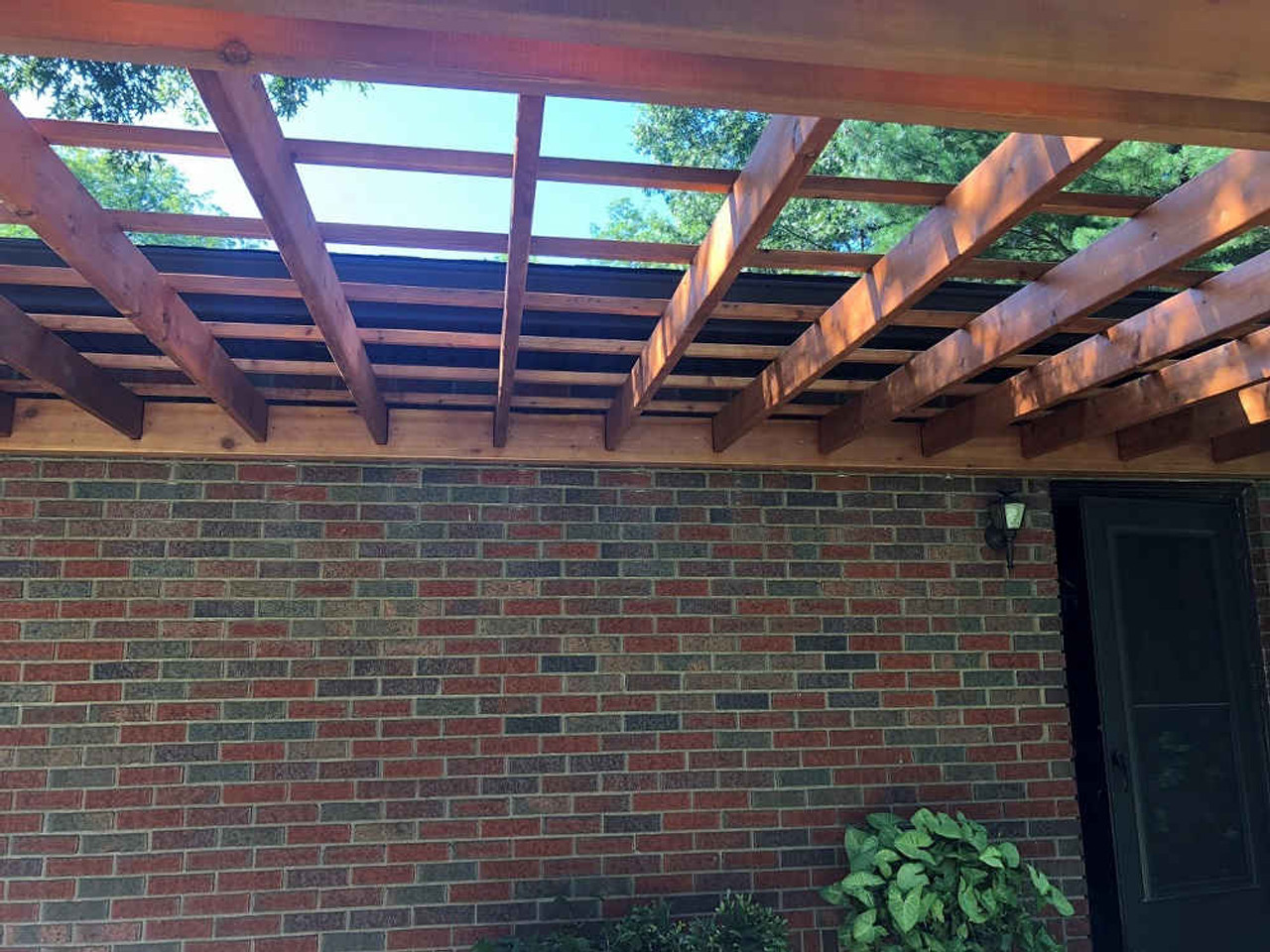 10x16 Classic Cedar Wall-Mounted with lattice roof, Doylestown, Ohio