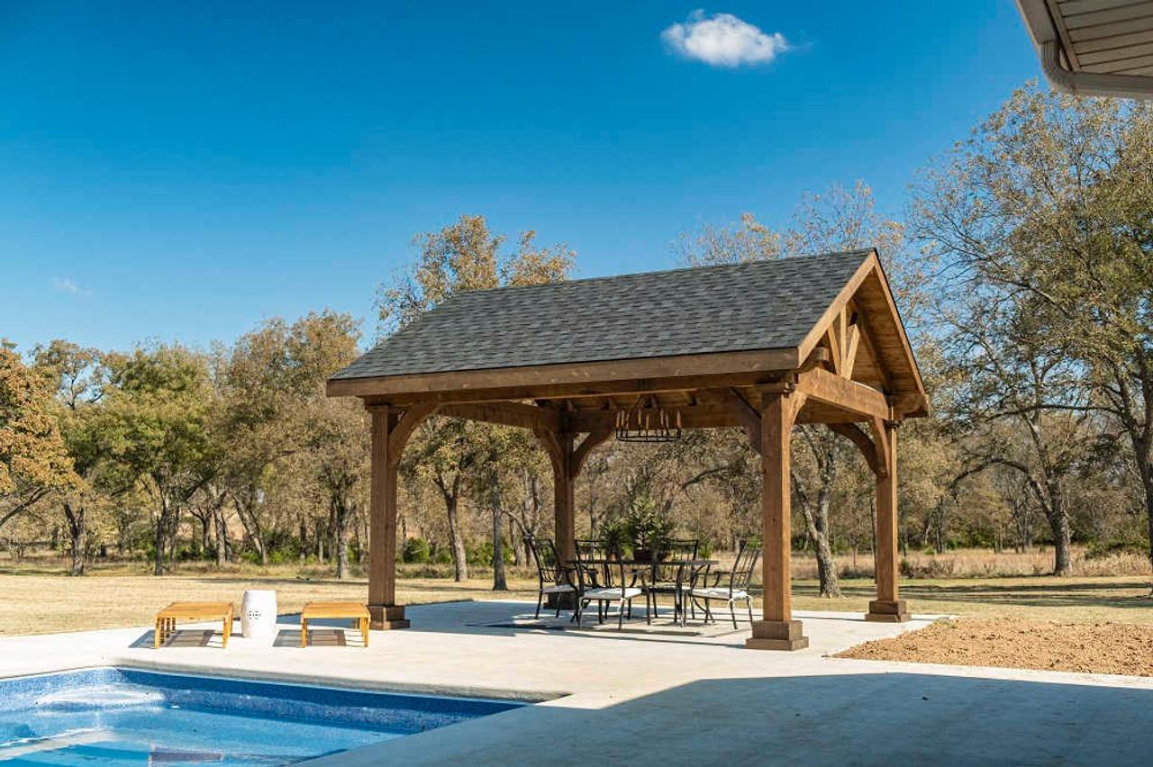14x16 Grand Cedar Pavilion Kit Poolside, Seminole, OK