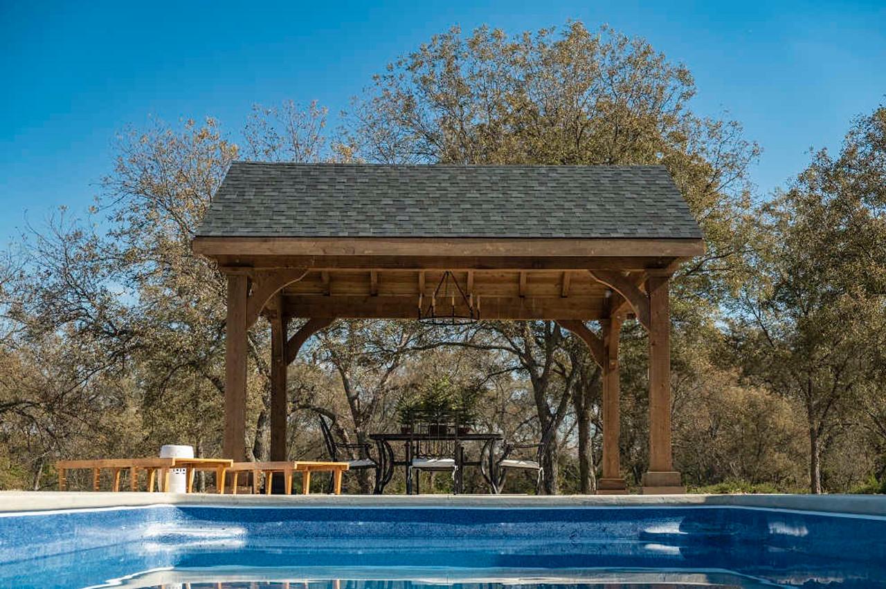 14x16 Grand Cedar Pavilion Kit, Poolshade, Seminole, OK