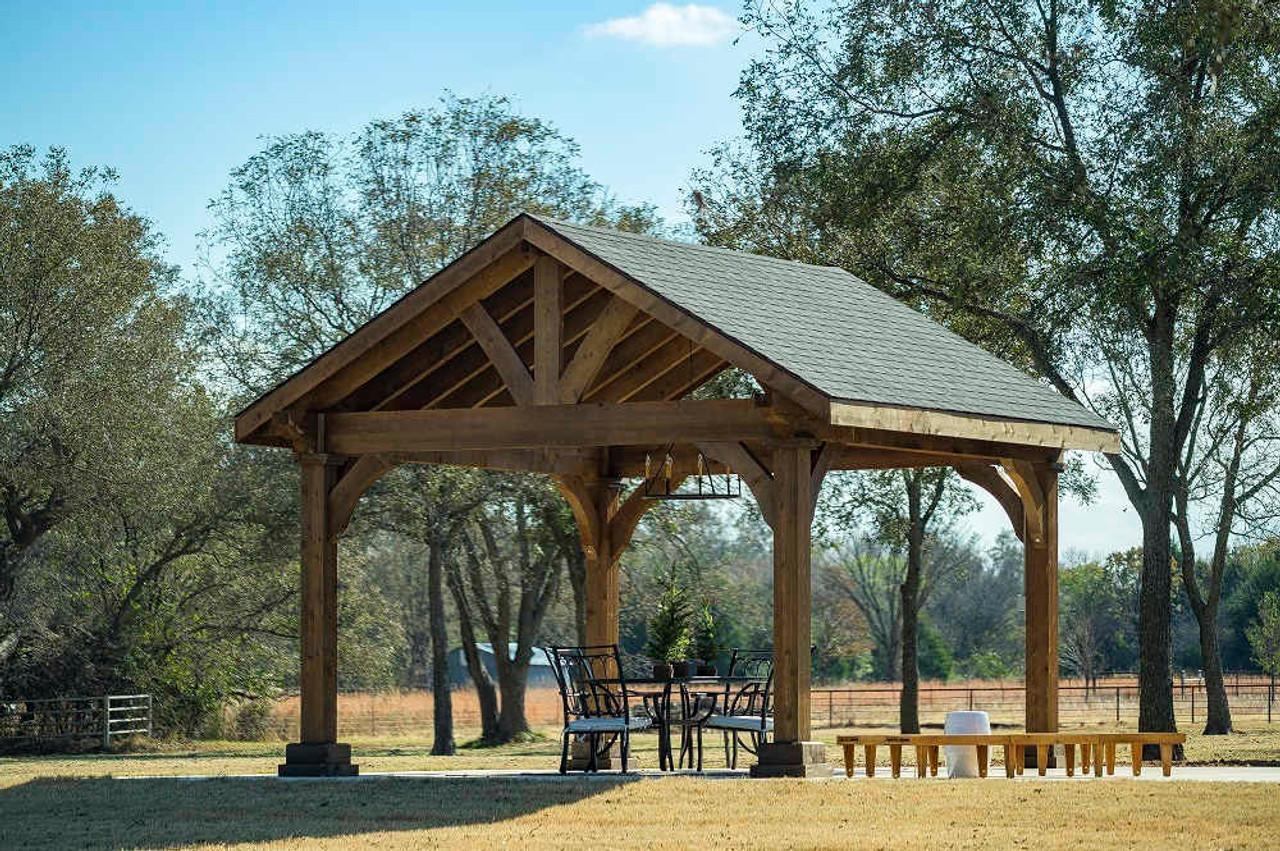 14x16 Grand Cedar Pavilion Kit, Seminole, OK