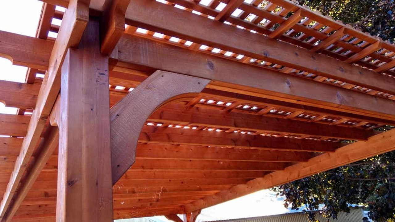 11x16 Classic Cedar Pergola Kit with lattice roof, Sherwood, WI