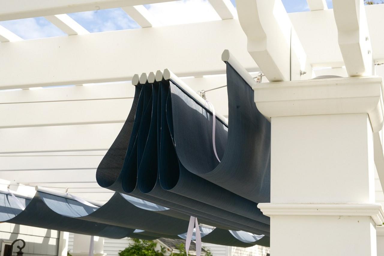 10x14 Structural Fiberglass Pergola Kit Canopy Panels, Hingham, MA