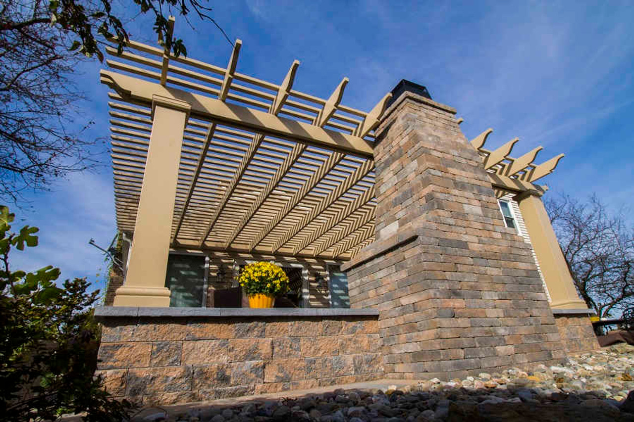 17x22 Structural Fiberglass Pergola Kit Wall-Mounted, Classic yet modern, Allentown, PA
