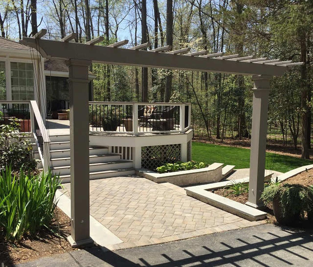 15' Structural Fiberglass Freestanding Entry Arbor with custom color, Midlothian, VA
