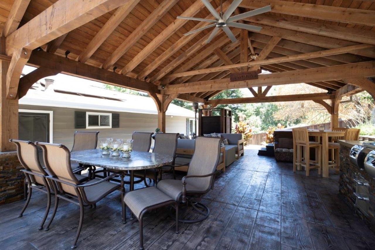 20x28 rough sawn red cedar pavilion