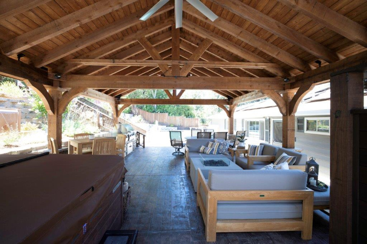 20x28 cedar roof as patio cover Martinez, CA